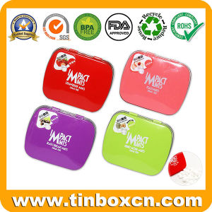 Custom Rectangular Mint Tin Box, Candy Tin Can, Confectionary Tin with Hinge, Metal Tin Case for Food Packaging pictures & photos