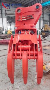 Ex200 Excavator Hydraulic Grapple for Wood Grabing pictures & photos