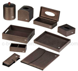 High Quality Hotel Guest Room Leather Product, Hotel Leather Stationery pictures & photos