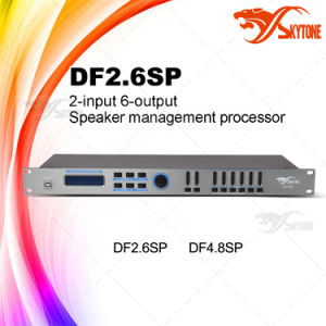 Df2.6sp 2-in 6-out DSP Loudspeaker Management System Audio Processor pictures & photos