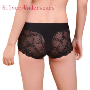 Sexy Lace Anti-Bacterial Silver Fiber Nylon Underwear for Women pictures & photos