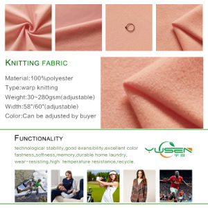 Knit Poly Tricot Fabric, 100% Polyester Warp Knitted Fabric for Lining/Shoes Cover Material pictures & photos