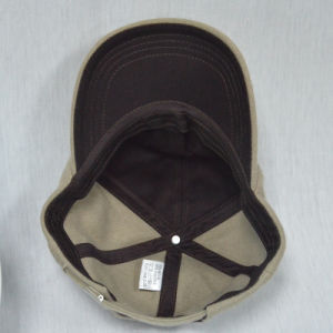Wool Brown Baseball Cap with 3D Embroidered pictures & photos