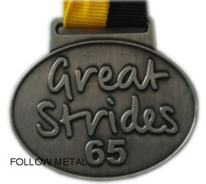 Medal for Great Strides, Zinc Alloy Material and Yellow/Black Ribbon