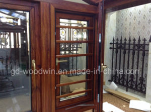 Top Quality Solid Wood Double Tempered Glass Window pictures & photos