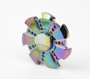 New Hot Products Pressure Relief Funny Toys Colorful Chroming Fidget Spinner Metal Hand Spinner Toy pictures & photos
