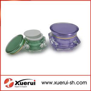 Cosmetic Diamond Shape Acrylic Cream Jar pictures & photos