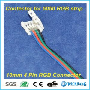 10mm 4pin Solderless Connector Cable for 5050 RGB LED Strip Light pictures & photos