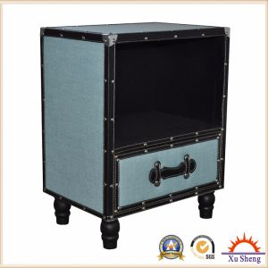 Accent Wooden Fabric Chest Cabinet with Expresso Kd Legs pictures & photos