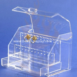 Clear Organic Glass Jewelry Display Cabinet pictures & photos