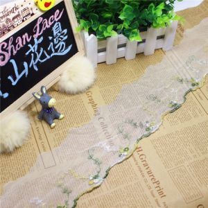 Stock Wholesale 9cm Width Embroidery Nylon Net Lace Polyester Embroidery Trimming Fancy Mesh Lace for Garments Accessory & Home Textiles & Curtains pictures & photos
