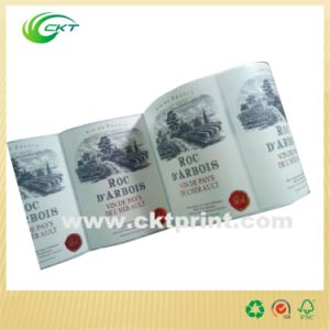 Luxury Glossy Paper Wine Label with Adhesive UV Coated (CKT-LA-456) pictures & photos