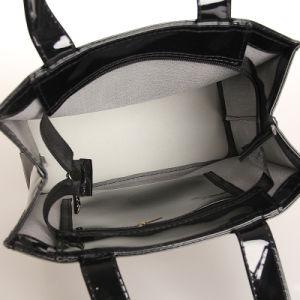 Xmas Style Waterproof PVC Zipper PU Shopping Bag (T003) pictures & photos
