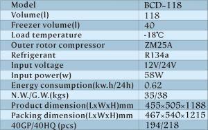 12V/24V DC Solar Power Freezer Refrigerator 118L pictures & photos