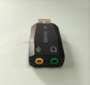 3.5mm Dual Ports 5.1CH 2.0 USB Sound Audio Card pictures & photos