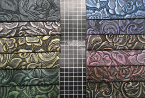Popular Embossed Pattern Synthetic Leather for Bags, Shoes, Decoration (HS-Y03) pictures & photos