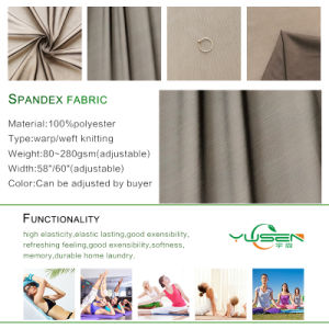 75D Polyester Spandex Stretch Plain Fabric pictures & photos