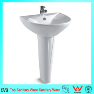 Hot Selling Ceramic Hand Wash Basin with Pedestal pictures & photos