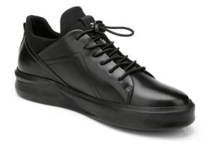 High Level Black Leather Shoes (CAS-060) pictures & photos