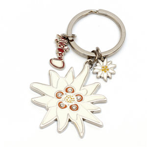 Promotional Flower Metal Keychain for Souvenir pictures & photos