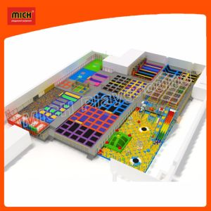 Indoor Trampoline Indoor Playground Mini Trampoline Amusement Park 7117A pictures & photos