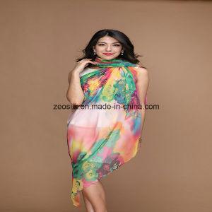 Printed Custom Silk Women Chiffon Silk Scarf pictures & photos