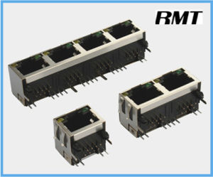 RJ45 Connector (RMT-56-3156S-LED) pictures & photos