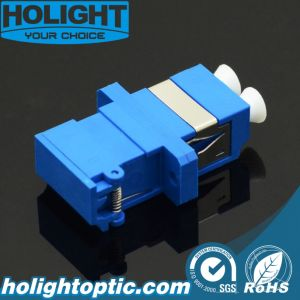 LC to LC Duplex Sm Blue Shuter Adaptor with Flange pictures & photos