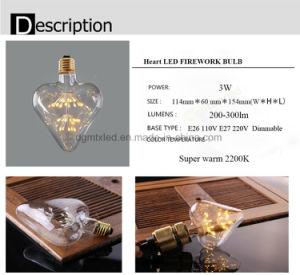 Heart shape LED light bulb e27 2W energy saving bulbs pictures & photos