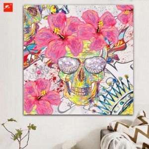 Skull Canvas Wall Art Print Oil Painting pictures & photos