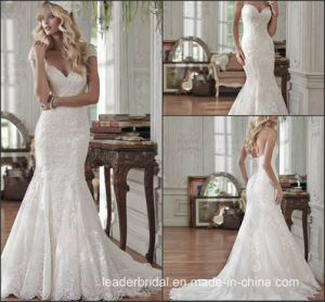 Cap Sleeves Mermaid Wedding Dress Sweetheart Lace Bridal Gown W15241 pictures & photos