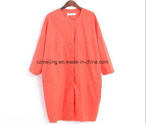 Red Color Women`S Long Shirt