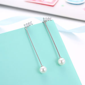 925 Sterling Silver Pearl Pendant Earrings pictures & photos