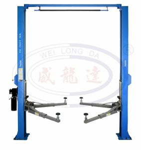 Wld-240m/Wld-250m High Quality Clear-Floor Two Post Hydraulic Auto Car Lift pictures & photos