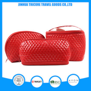 2017 Popular New Style Quilting PU Cosmetic Bag Makeup Bag Set Bags pictures & photos