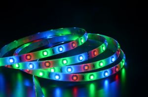 3528 60LEDs/M RGB LED STRIPS (IP65)/ LED stripe pictures & photos