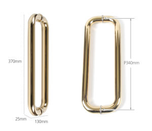 Stainless Steel Golden Color D Style Fitting Glass Pull Handle pictures & photos