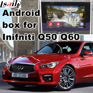 Android 4.4 5.1 GPS Navigation System Box for Infiniti Q50 Q60 2015-2016 Video Interface Upgrade with Mirror Link, Cast Screen, WiFi pictures & photos