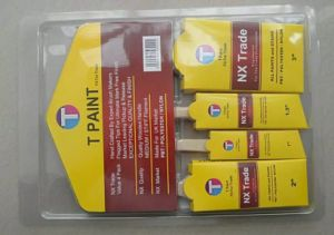 Tapered Solid Filament Paint Brush Set with Wooden Handle pictures & photos