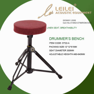 Adjustable Linen Seat Drummer′s Bench (DT22-A) pictures & photos