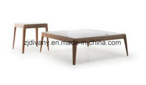 Marble Top Wooden Coffee Table Square Table (T-105) pictures & photos