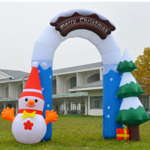 Beautiful Nice Holiday Party Decoration Inflatable Christmas Arch for Santa pictures & photos