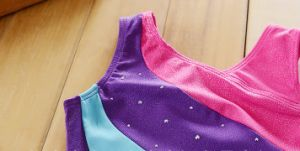 Girl′s Tank Gymnastic Leotards with Diamond pictures & photos