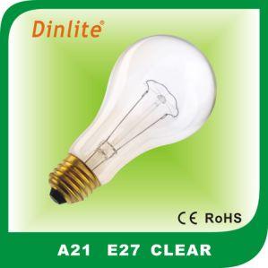 Soft-white A21 E27 100W incandescent bulb pictures & photos
