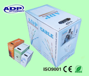 Pass Fluke Test CAT6 LAN Cable with RoHS PVC 305m Easy Pulling Box Roll pictures & photos