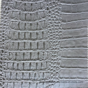 Grey Faux Crocodile Leather pictures & photos
