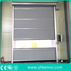 Warehouse PVC Fabric High Speed Fast Rapid Roller Shutter Door pictures & photos