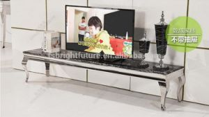 Hot Sales Morden Metal Ltd TV Stand with Marble Top pictures & photos