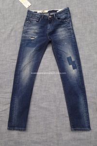 14.6oz Men Straight Jeans (HS-776897A) pictures & photos