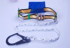 PP Waist Safety Industrial Harness Positioning Belt with Rope Lanyard pictures & photos